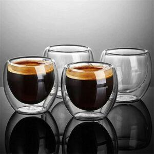 Glastasse doppelwanding kaffee espresso