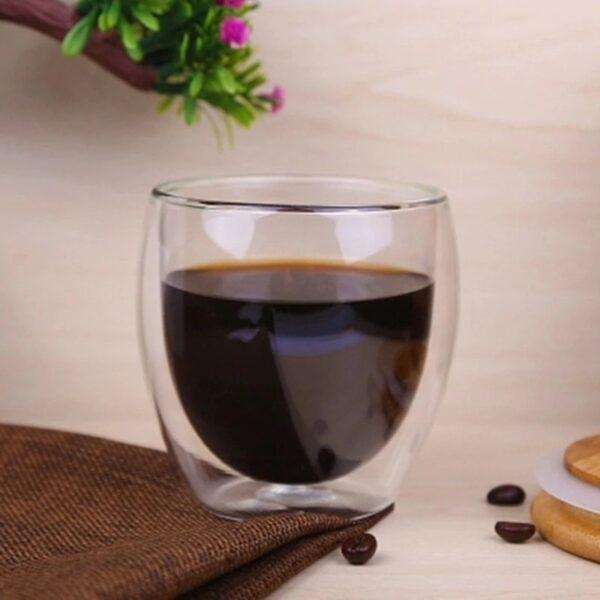 Glastasse doppelwanding kaffee